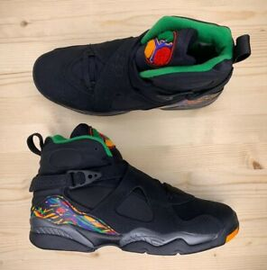 Air-Jordan-8-Retro-GS-Black-Tinker-Air-Raid-Sneakers-305368-004-Youth-Size-4