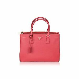 05c76adf47b0 ... greece image is loading authentic prada saffiano lux tote bag fuoco red  3a8c2 fe751