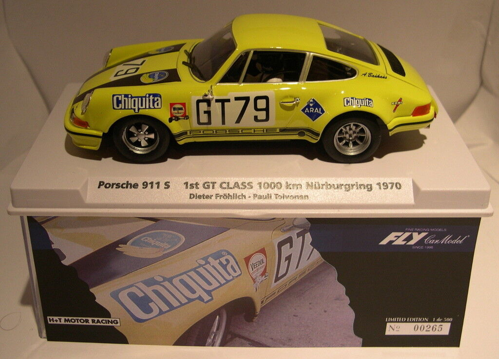 Qq FLY 99081 PORSCHE 911S 1000KM NURBURGRING'70 H+T MOTOR RACING LTED. ED