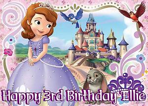 a4 edible baby pink disney princess sofia the birthday icing