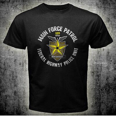 New Mad Max Mel Gibson Main Force Patrol MFP T-shirt Tee