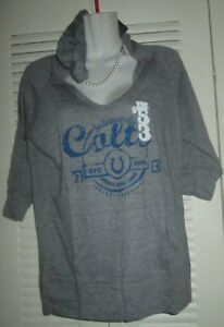 d1ce7757a NFL Team Apparel Women s INDIANAPOLIS COLTS Hoodie Pocket Shirt L ...