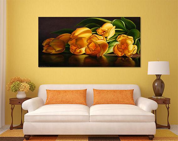 3D golden Tulip 623 Fototapeten Wandbild BildTapete AJSTORE DE Lemon