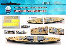 Shipyard 350010 1/350 Wood Deck HMS Prince of Wales for Tamiya