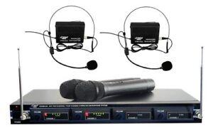 Acheter Pas Cher Pyle Pdwm 4300 4 Mic Vhf Microphone Sans Fil Système-afficher Le Titre D'origine
