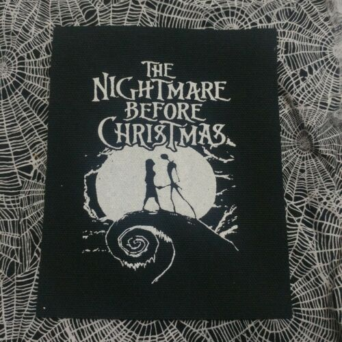 NIGHTMARE BEFORE CHRISTMAS cloth patch JACK AND SALLY