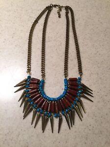 Vintage Gypsy Fringe Bib Necklace