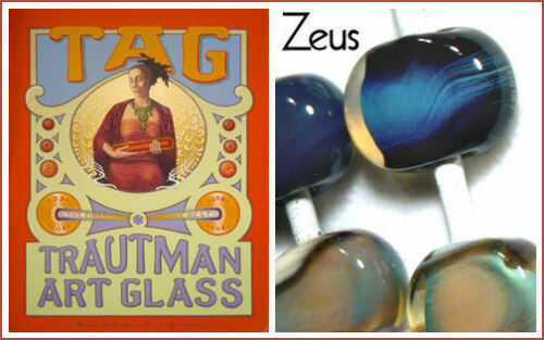"TRAUTMAN ART GLASS /""Zeus/"" 5//6x320mm 13,28€//m 1st Quality Rods"