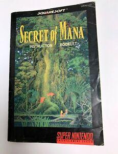 Secret-of-Mana-Instruction-Booklet-MANUAL-ONLY-Super-Nintendo-SNES