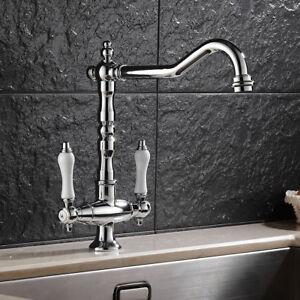 Image Is Loading Traditional Kitchen Tap Basin Mixer Sink Bridge Ceramic