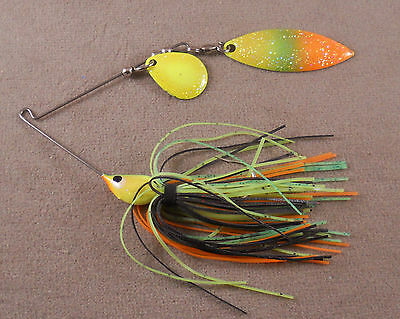 1 Colorado /& 1 Willowleaf Blade Bass Fishing Lure Custom Spinnerbait 3//8 oz