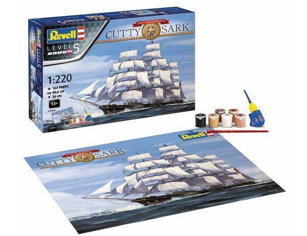 Revell 1 220 05430 Cutty Sark 150TH Anniversary Gift Set Model Ship Kit