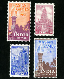 India-Stamps-233-6-VF-OG-LH-Catalog-Value-37-50