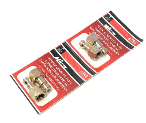 "Milton Tools T Style 1//4/"" Female NPT Couper Plug S784 x 2 4-pack"