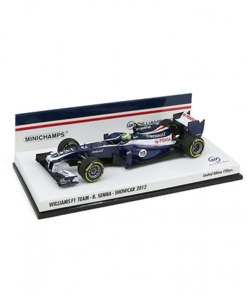 Nouveau Mini champs échelle 1 43 WILLIAMS F1 TEAM Bruno Senna 2012 Show Voiture Japon