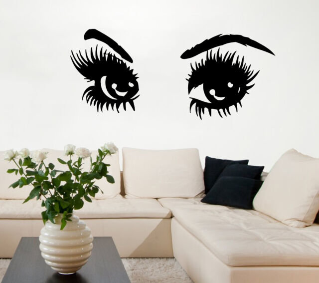 Wall Decals Girl Eyes Beauty Salon Vinyl Decal Sticker Murals Art Decor KG863