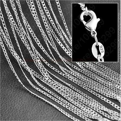 "Wholesale Lots 5pc 925 Sterling Silver 2MM Necklace Chain 16""-30"""