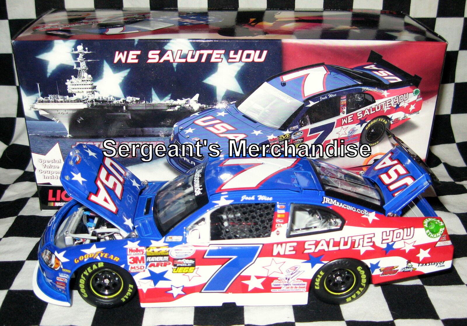 Josh Wise Autographed Signed  We Salute You  1 24 Impala Nascar Action 2011