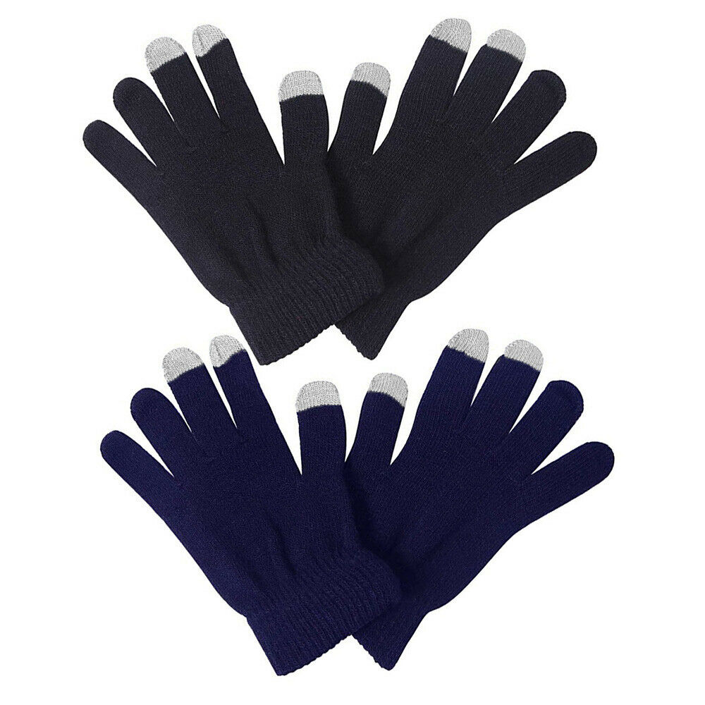1 Pair Men Women Winter Knit Gloves Keep Warm For Texting,Typing,Driving