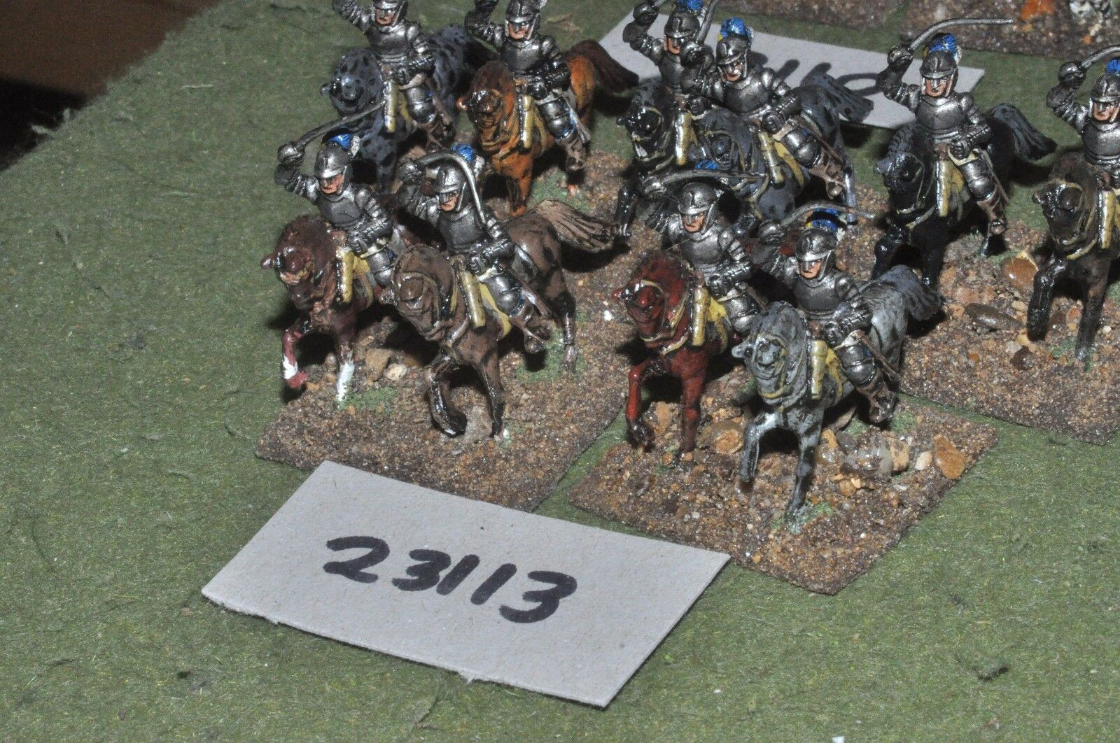 25mm ECW   parliament - cuirassiers 10 figures - cav (23113)