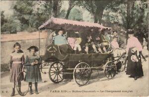 CPA PARIS 19e - Buttes-Chaumont - Le Chargement complet (143410)
