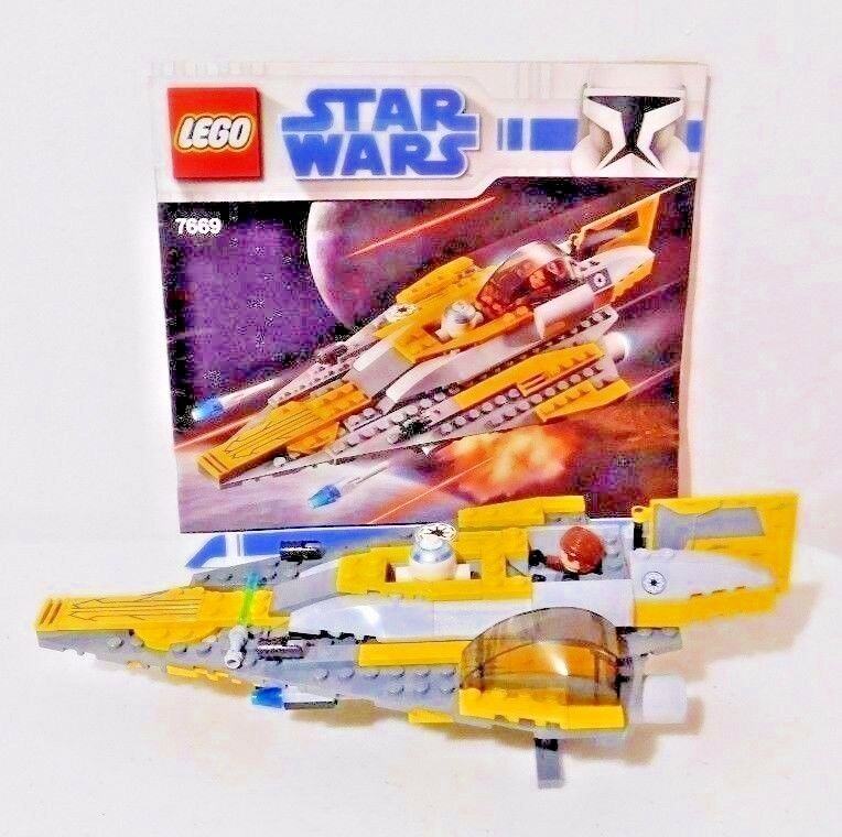LEGO Star Wars Anakin's Jedi Starfighter 7669 Complete with with with Instructions No Box 26843a