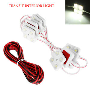 Car-Light-Kit-Interior-12V-White-40-LED-For-LWB-Van-Sprinter-Ducato-Transit-VW