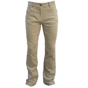 Ladies Mujer Pana Pantalones Elastico Corte Recto De Campana Algodon Nuevo Ebay