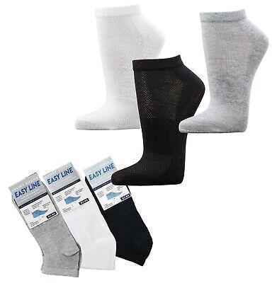 12 Paar Easy Line Sport Und Funktions Sneakers Socken Comfort 75 % Bw Air Zone Delikatessen Von Allen Geliebt