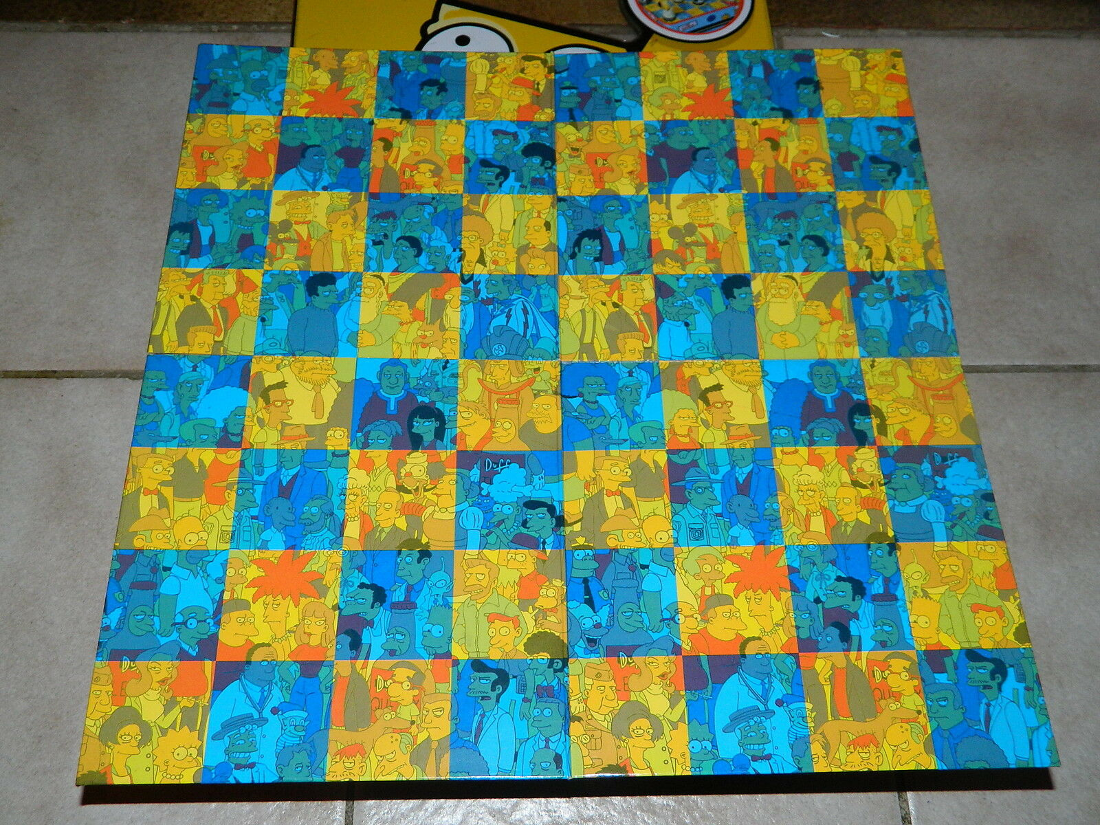 Simpsons Schach Set - Chess Set - Cardinal - - - in Metall Box - komplett - Rarität 6608df