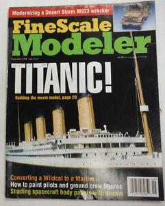 Finescale Modeler Magazine Titanic Building Movie Model