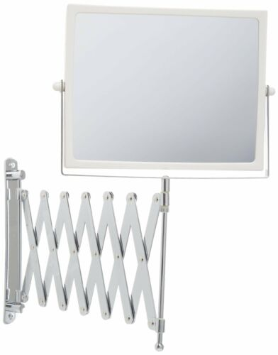 2 Sided Makeup Mirror Wall Arm Shaving Swivel Magnifying Extendable Bathroom