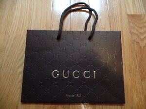 b4f55474a166 Image is loading Small-GUCCI-Couture-shopping-bag-heavily-embossed-paper-
