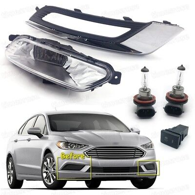 Bumper Fog Lights Lamps Cover Grille Switch Set For Ford