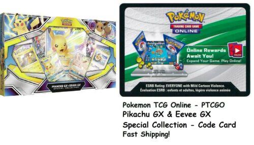 PIKACHU GX /& EEVEE GX CODE CARD SPECIAL COLLECTION PTCGO