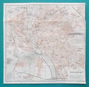 HUNGARY-Budapest-City-Town-Center-Plan-1914-MAP-10-5-x-10-5-034-26-x-26-cm