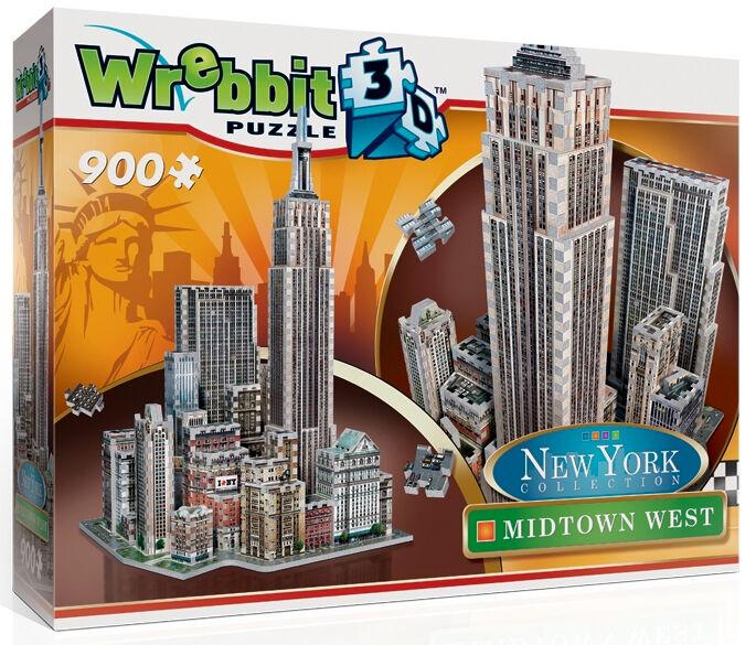 3D Puzzle - New York - Manhattan - Midtown West 900 Teile Amerika Wrebbit