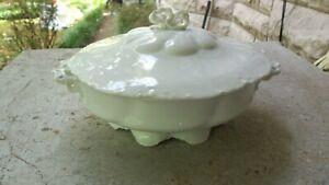 Rosenthal-China-Versailles-Vegetable-White-Lid-Bowl-Bow-Vintage-Antique-MINT
