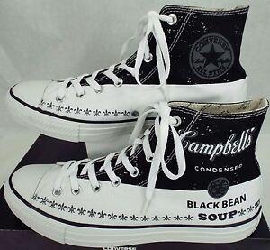 New Mens 10 CONVERSE CT HI Casino Campbells Black Bean Soup Shoes  147051C