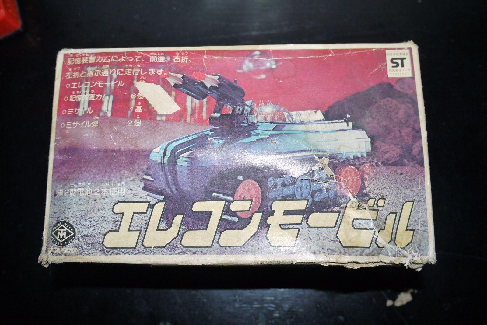60 bis 70 ist jahrgang batteriebetriebene spielzeug raum tank japan arbeiten unvollständig umzingelt