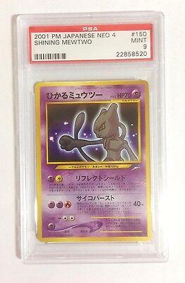 Pokemon PSA 9 MINT Neo 4 Destiny SHINING MEWTWO Triple Star Japanese Holofoil