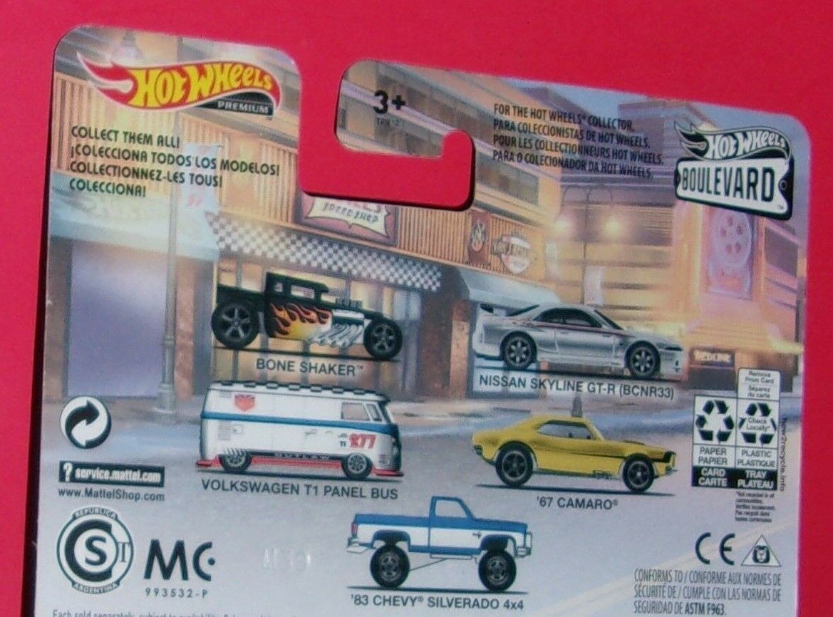 Hot Wheels Premium Boulevard 15 Variety Cars Shaker Skyline Bus Camaro NEW//SEALd