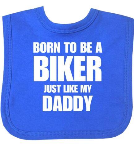 Babyprem Baby Lätzchen Born To Be A Biker wie Daddy mit Klettverschluss Brand