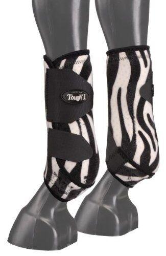 NEW Tough-1 Vented Sport Stiefel Stiefel Sport Front - Weiß Zebra, Average / Medium 93baa1