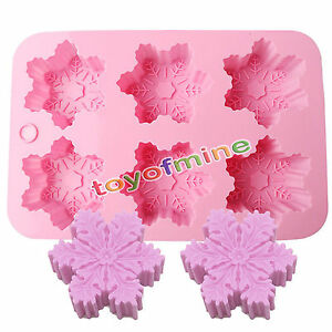 6-Snowflake-Snow-Soap-Flexible-Silicone-Mould-For-Candy-Chocolate-Cake-Mold