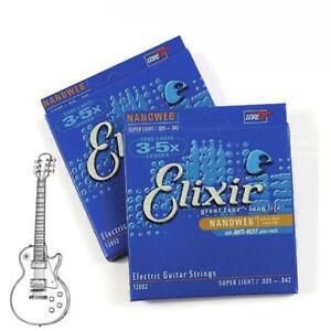 Elixir-Nanoweb-12002-Light-Electric-Guitar-Strings-Coating-Antirust-0-09-0-42-x6