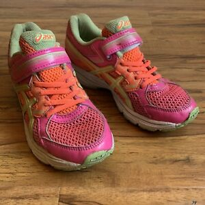 Details about ASICS pink running sneakers | hook & loop fastener | girl's size 3