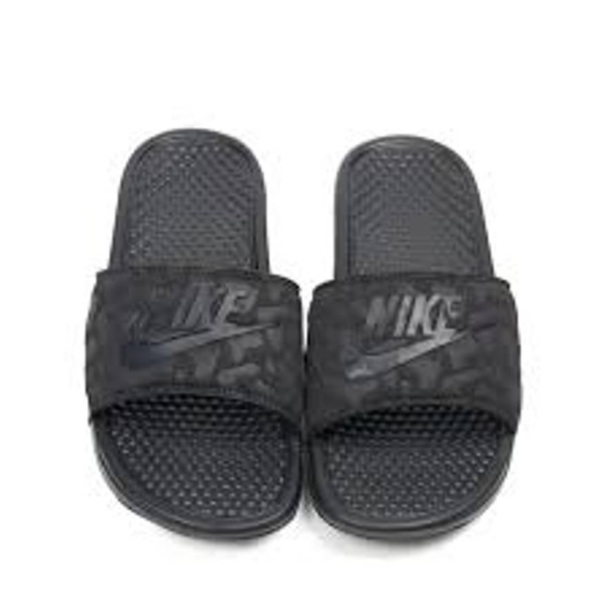 Brand New Nike Benassi JDI PO QS BLACK BLACK 728564 090