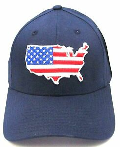 US FLAG Snapback Cap Hat USA United States Stars Stripes White Red Flat Bill NWT