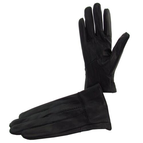 Damen Leder Handschuhe Lederhandschuhe in Rot Braun oder Schwarz